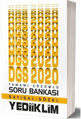 Yediiklim Yayınları 2020 DGS Sayısal-Sözel Tamamı Çözümlü Soru Bankası