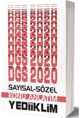 Yediiklim Yayınları 2020 DGS Sayısal-Sözel Bölüm Konu Anlatımı