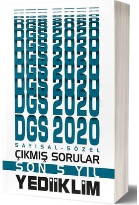 Yediiklim Yayınları 2020 DGS Sayısal Sözel Bölüm Son 5 Yıl Çıkmış Sorular