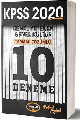 Yediiklim Yayınları 2020 KPSS Genel Kültür - Genel Yetenek Tamamı Çözümlü 10 Deneme Sınavı