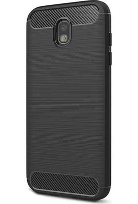 Magazabu Samsung Galaxy J3 Pro 2017 J330 Kılıf Ultra Korumalı Room Silikon + Cam Ekran Koruyucu Siyah