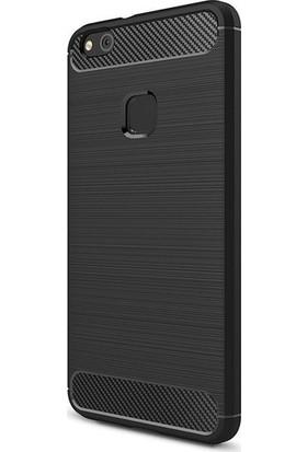 Magazabu Huawei P10 Lite Kılıf Ultra Korumalı Room Silikon + Cam Ekran Koruyucu Siyah