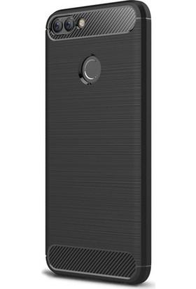 Magazabu Huawei P Smart (2018) Kılıf Ultra Korumalı Room Silikon + Nano Ekran Koruyucu Siyah