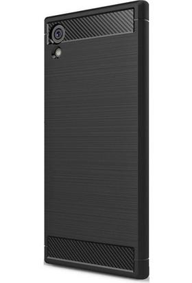 Magazabu Sony Xperia XA1 Ultra Kılıf Ultra Korumalı Room Silikon + Cam Ekran Koruyucu Siyah