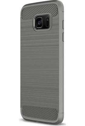 Magazabu Samsung Galaxy S7 Edge Kılıf Ultra Korumalı Room Silikon + Cam Ekran Koruyucu Gri