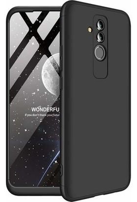 Magazabu Huawei Mate 20 Lite Kılıf 3 Parça 360 Ays Kapak + Cam Ekran Koruyucu Siyah