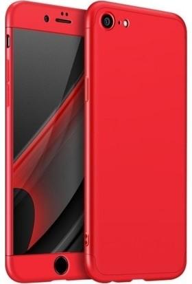 Magazabu Apple iPhone 6 / 6S Kılıf 3 Parça 360 Ays Kapak + Cam Ekran Koruyucu Kırmızı