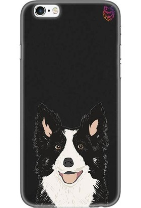 Wolf Dizayn Apple iPhone 6 /6s Plus Siyah Silikon Kılıf - Dog