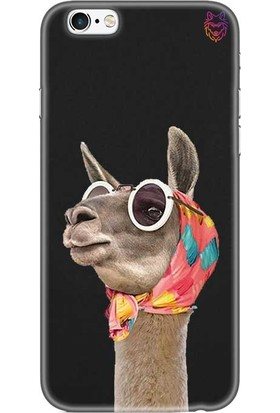 Wolf Dizayn Apple iPhone 6 /6s Plus Siyah Silikon Kılıf - Lama
