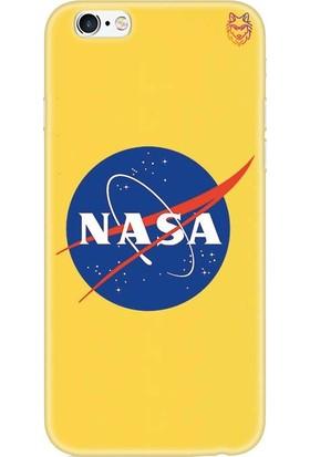 Wolf Dizayn Apple iPhone 6 /6s Plus Sarı Silikon Kılıf - Nasa