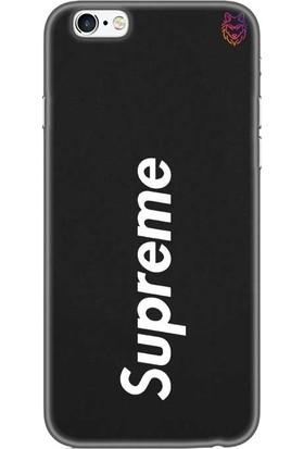 Wolf Dizayn Apple iPhone 6 /6s Plus Siyah Silikon Kılıf - Supreme 4