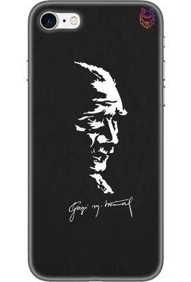 Wolf Dizayn Apple iPhone 7 Siyah Silikon Kılıf - Atatürk