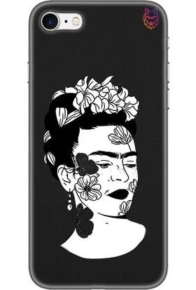 Wolf Dizayn Apple iPhone 7 Siyah Silikon Kılıf - Frida
