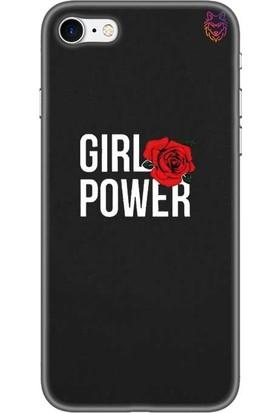 Wolf Dizayn Apple iPhone 7 Siyah Silikon Kılıf - Girl Power