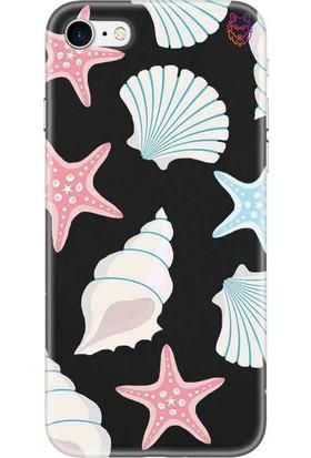 Wolf Dizayn Apple iPhone 7 Siyah Silikon Kılıf - Sea Shell