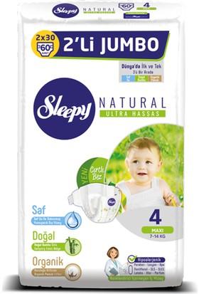 Sleepy Bebek Bezi İkili Jumbo 4 Beden 60 adet