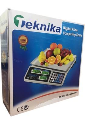 Teknika Terazi Bakkal Manav Market ve Pazarcı Tartıcı Max.40 Kg 2.Gr Hassasiyet