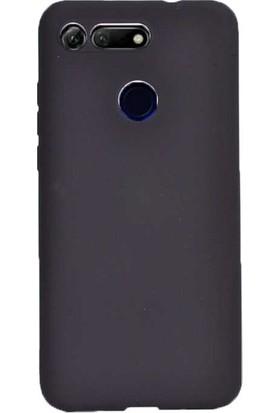 Tekno Grup Huawei Honor View 20 Kılıf Mat Premium Silikon Kılıf - Siyah + Nano Ekran Koruyucu