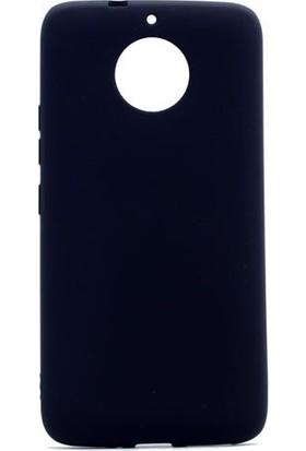 Tekno Grup Lenovo Moto G5S Mat Premium Silikon Kılıf - Siyah + Nano Ekran Koruyucu