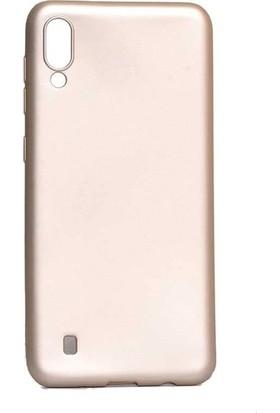 Tekno Grup Samsung Galaxy A10 Kılıf Mat Premium Silikon Kılıf - Gold + Nano Ekran Koruyucu