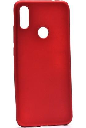 Tekno Grup Xioami Redmi Note 7 Kılıf Mat Premium Silikon Kılıf - Kırmızı