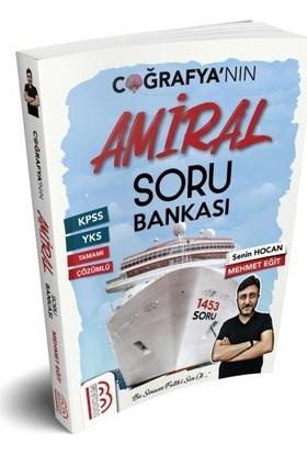 Benim Hocam Yayınları 2019 KPSS Tamamı Çözümlü Amiral Coğrafya Soru Bankası
