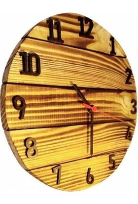 Zümra Ahşap Duvar Saati Dekoratif Saat