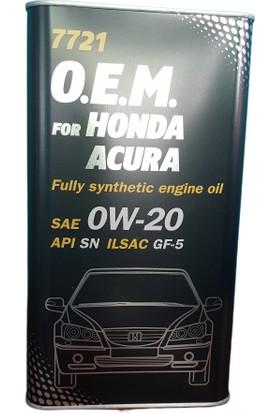 Mannol Honda 0W20 Motor Yağı (4 Litre)