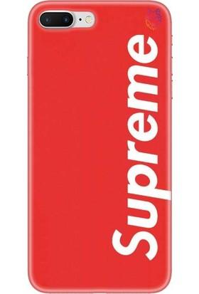 Wolf Dizayn Apple iPhone 7 Plus Kırmızı Silikon Kılıf - Supreme 5