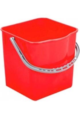 Derin Temizlik Arabası Yedek Kovası 25 lt Kırmızı