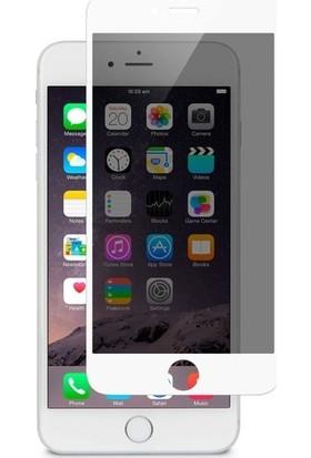 CoverZone Apple iPhone 7 Plus Gizli Görünmez Lively Temperli Ekran Koruyucu Beyaz + Dokunmatik Kalem