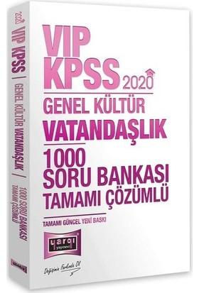 Yargı Yayınevi 2020 KPSS VIP Vatandaşlık Tamamı Çözümlü 1000 Soru Bankası