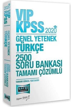 Yargı Yayınevi 2020 KPSS VIP Türkçe Tamamı Çözümlü 2500 Soru Bankası