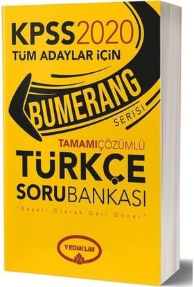 Yediiklim Yayınları 2020 Bumerang Tamamı Çözümlü Türkçe Soru Bankası