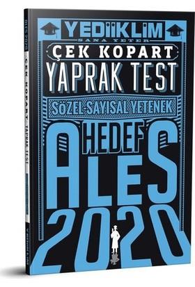 Yediiklim Yayınları 2020 Ales Sayısal Sözel Yetenek Çek Kopart Yaprak Test