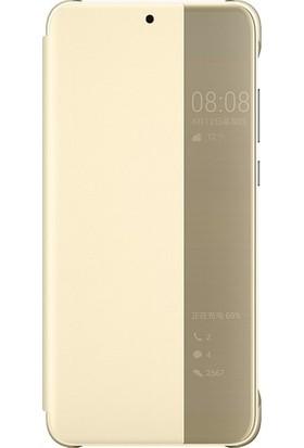 Cepmarketim Huawei P20 Lite Kılıf Smart View Uyku Modlu Akıllı Mod Flip Cover Kapaklı + Ekran Koruyucu Nano