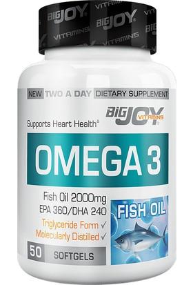 Bigjoy Vitamins Omega 3 2000 Mg ( 360 EPA / 240 DHA ) 50 Softgel BİG351924
