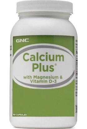Gnc Calcium Plus Vitamin D-3 Takviye Edici Gıda 180 Kapsül GNC123550