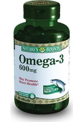 Nature's Bounty Omega-3 600 mg 30 Kapsül NAT000935