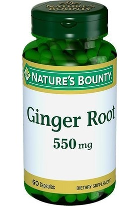 Nature's Bounty Ginger Root 550 mg 60 Kapsül NAT003127