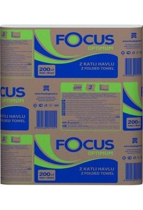 Focus Optimum Z Katlı Dispenser Havlu 200 Yaprak x 12 Paket