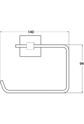 Csk Aksu Açık Tuvalet Kağıtlık / Mat Siyah