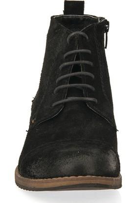 F.Foot By Ziya Erkek Deri Bot 93117F 3511 Siyah