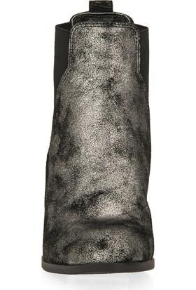 F.Foot By Ziya Kadın Deri Bot 93117F 1109 Siyah