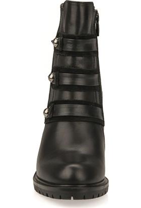 F.Foot By Ziya Kadın Deri Bot 93117F 1409 Siyah
