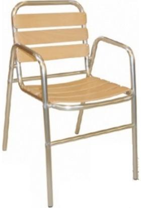 MT Alüminyum Sandalye Ahşap Oturum