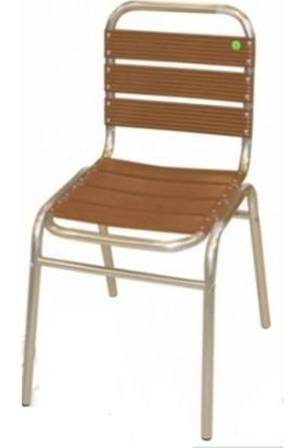 MT Alüminyum Sandalye Ahşap Latalı