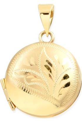 Myra Gold Altın Yuvarlak Madalyon Kolye Ucu (Uc0050)