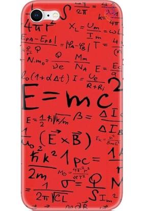 Wolf Dizayn Apple iPhone 8 Kırmızı Silikon Kılıf - Mc2 Black
