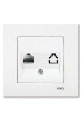 Viko 90967078 Karre Meridian Beyaz Tekli Data Cat6 Prizi Mekanizması